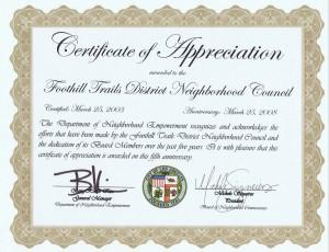 Service Anniversary Certificate Templates