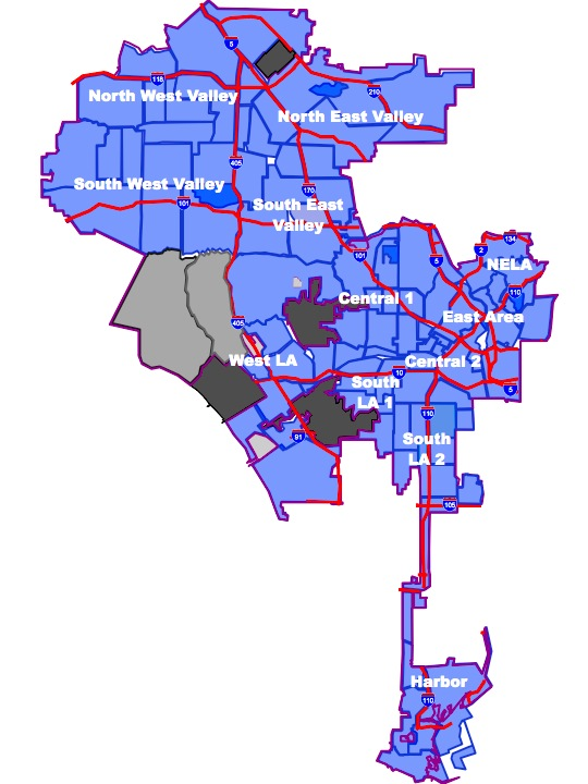 LA City Neighborhood Council map