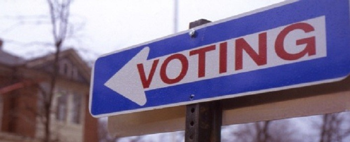 voting sign header