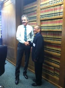 Mike Fueur and Mayor Alfredo Peñate