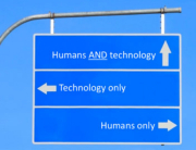 TUX humans-technology-sign