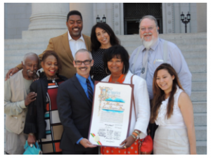 Councilmember Mitch O'Farrell presented MMLA Board members with a Resolution June 19th, 2015