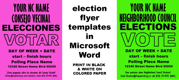 Outreach best practices cheap easy elections flyer for Voting flyer templates free