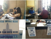 Pop-Up Poll at the Mayor's Help Desk, LA City Hall