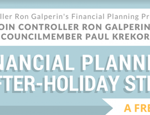 Controller Ron Galperin invites you to a Workshop: Jan 25, 6-7pm