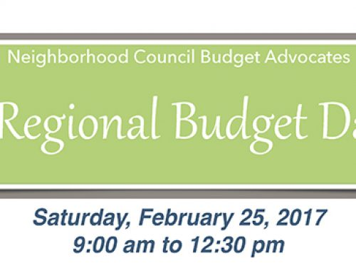 Neighborhood Council Budget Advocates Regional Budget Day