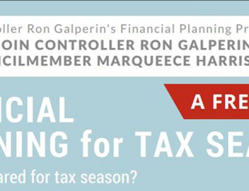 Controller Galperin's Financial Planning for Tax Season Workshop