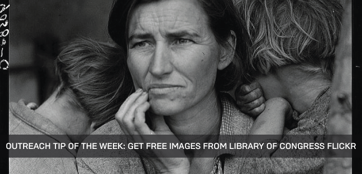 """Migrant Mother"" by Dorothea Lange (1936) is one of nearly 30,000 copyright-free images available at Library of Congress Flickr"