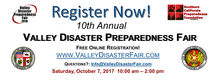 Online Registration for the 10th Annual Valley Disaster Preparedness Fair Open