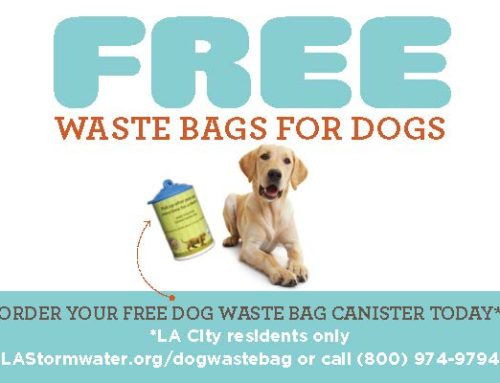 Get Free Dog Waste Bags from LASan's Stormwater Program