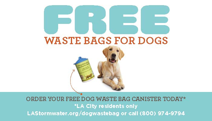 Get Free Dog & Pet Waste Bags from LA Sanitation Stormwater Program