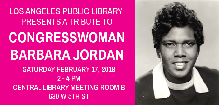 Los Angeles Public Library presents a tribute to Congresswoman Barbara Jordan Saturday February 17th (photo via Library of Congress)
