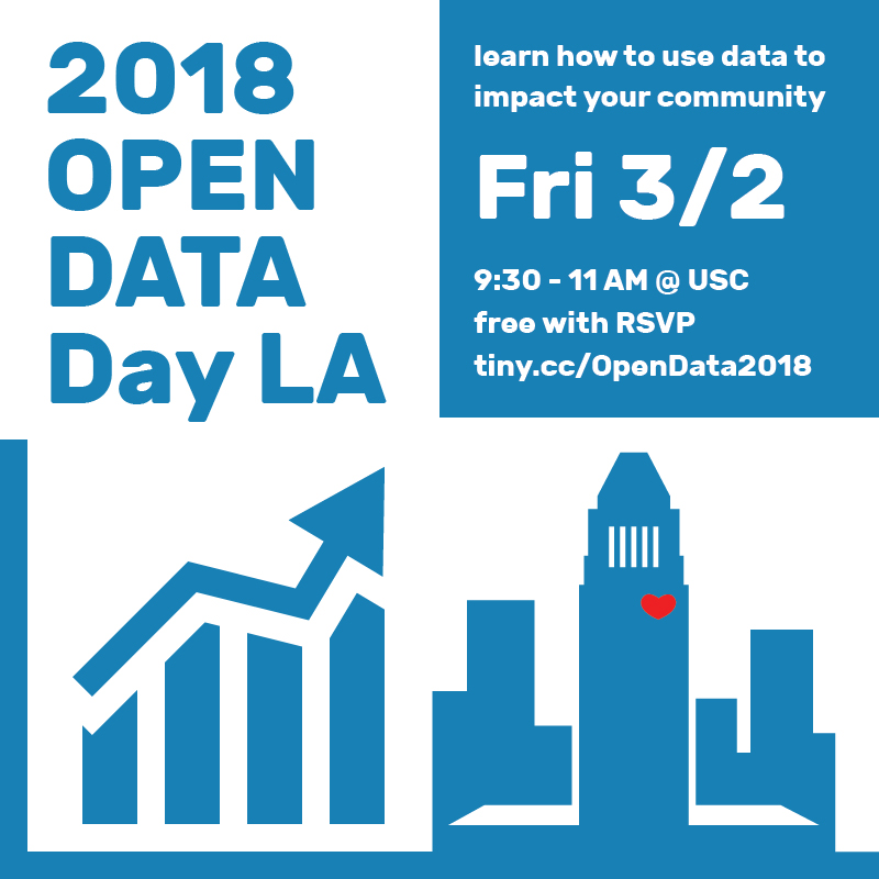 Learn To Access & Use Los Angeles City Data at Open Data Day LA on March 2 2018