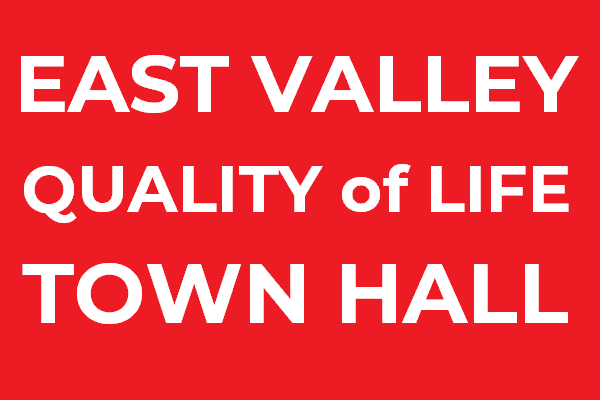 Arleta NC hosts East Valley Quality of Life Town Hall Saturday March 24 (newsletter header image)
