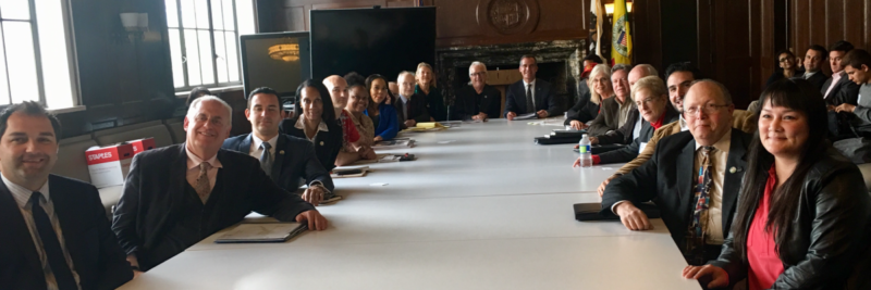 Budget Advocates meet with Los Angeles Mayor Eric Garcetti to present their annual White Paper (March 2018)