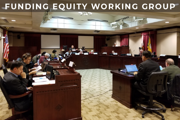 Photo from the Neighborhood Council Funding Equity Working Group meeting at Van Nuys City Council Chambers February 27 (photo by Lilian Kim)