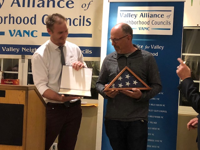 Michael Binkow of Sherman Oaks NC being recognized by Congressman Brad Sherman's office at VANC