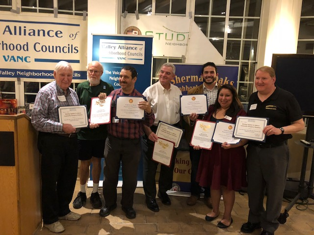 North Hills West, North Hills East & Panorama City Neighborhood Councils - winners of 2018 VANC Award for Best Community Emergency Response