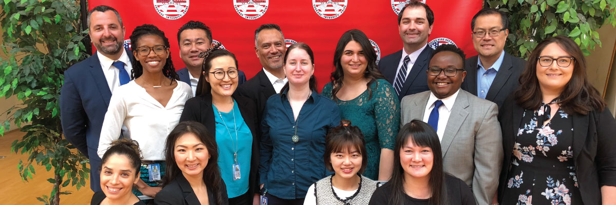 Semee Park & EmpowerLA staff at LAFD Leadership Academy graduation (blog header image)
