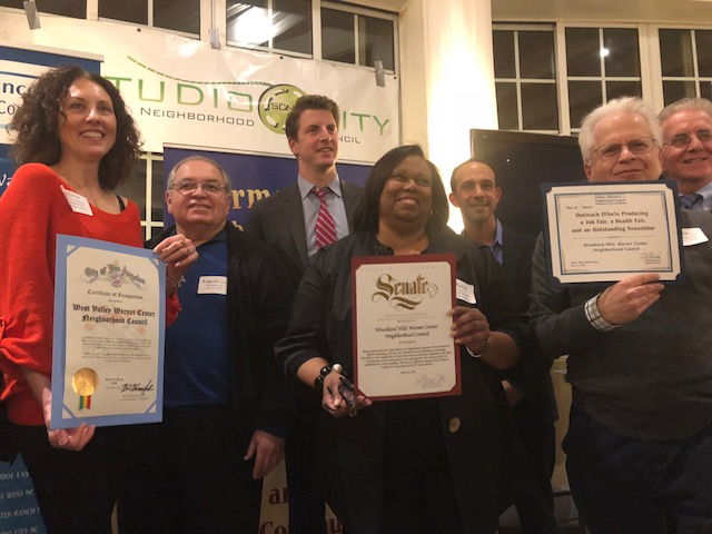 Woodland Hills Warner Center NC - VANC Award 2018 for Outreach Efforts for Job Fair, Health Fair + newsletter