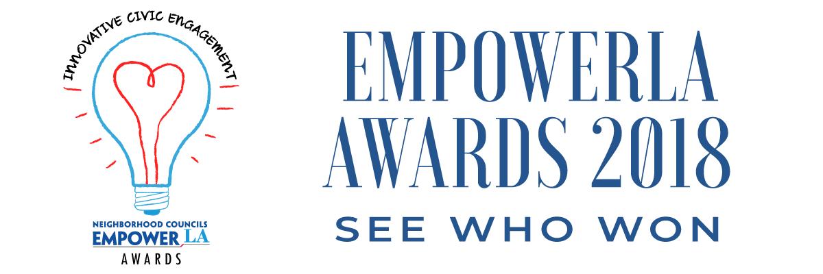 EmpowerLA Awards 2018 - see who won (newsletter header image)