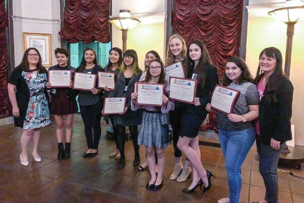 IgniteLA graduates with Grayce Liu and Vanessa Serrano of EmpowerLA