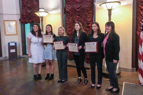 Ignite LA graduates with EmpowerLA's Jasmine Elbarbary and Grayce Liu