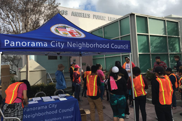 Panorama City NC booth at their March 24th cleanup event
