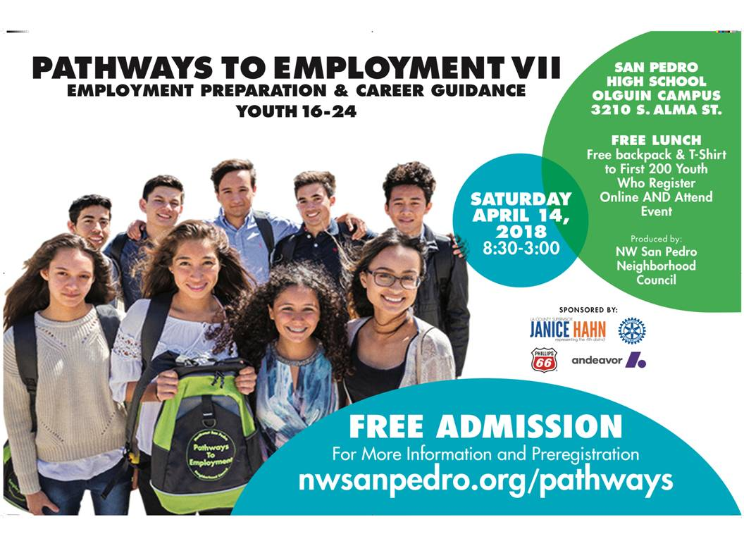 Pathways To Employment youth career event flyer