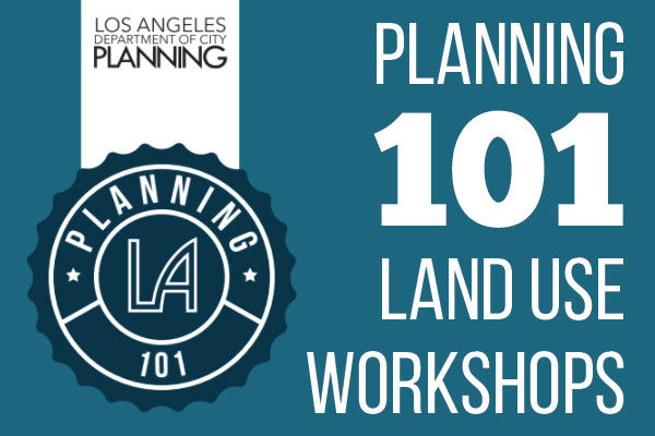 graphic for Planning 101 land use workshop series Spring 2018