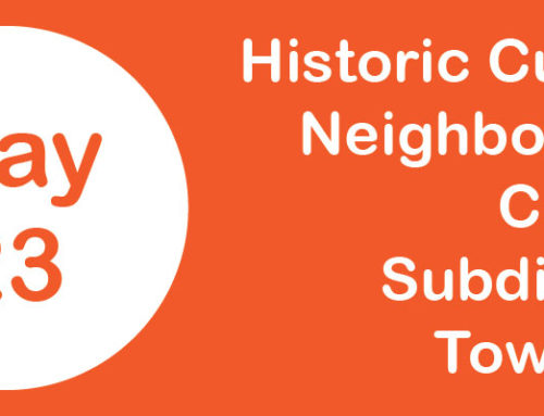 Town Hall to Discuss Subdivision of Historic Cultural Neighborhood Council