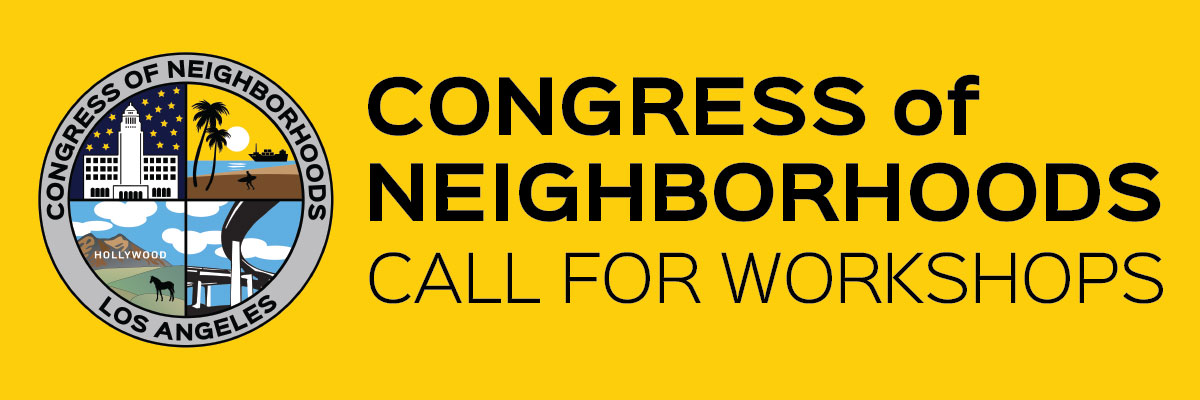 Call for workshops for the 2018 Congress of Neighborhoods (blog header image)