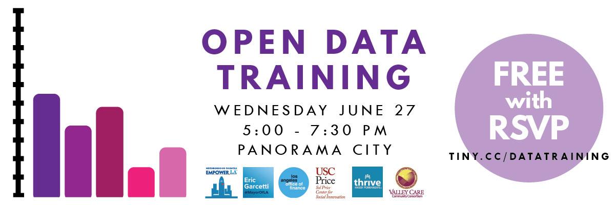 Free Data Training Workshop June 27 in Panorama City (blog header image)