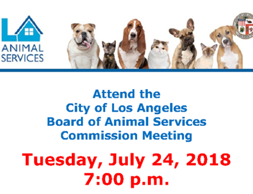Board of the Los Angeles Animal Services Commissioners Meeting