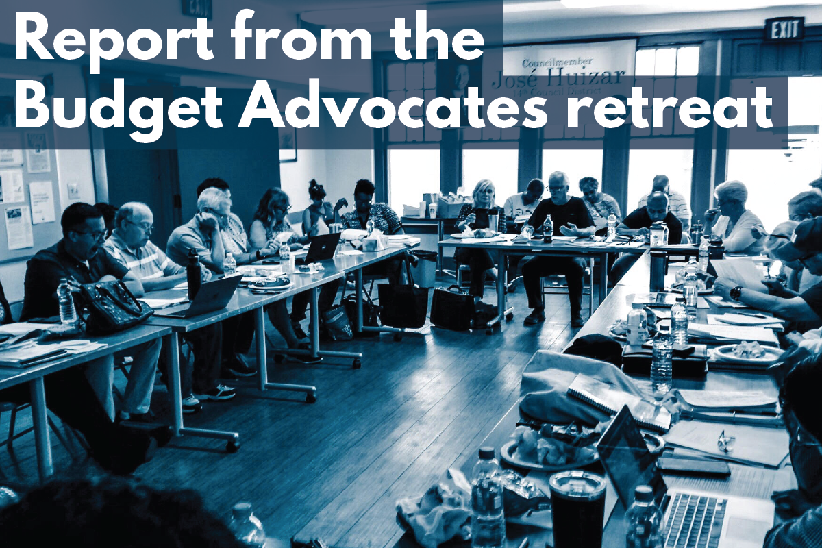 Budget Advocates at their retreat. Photo by Connie Acosta of Echo Park Neighborhood Council