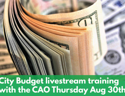 CAO offers training on the City Budget via Facebook Live Thursday August 30