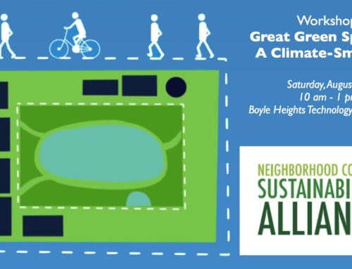 NC Sustainability Alliance Workshop: Great Green Space for a Climate-Smart LA (Aug 25)