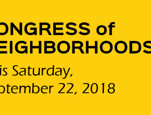 We hope to see you at Congress of Neighborhoods Tomorrow!