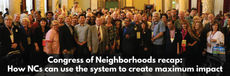 group photo of Los Angeles Neighborhood Council members at the opening session of the 2018 Congress of Neighborhoods