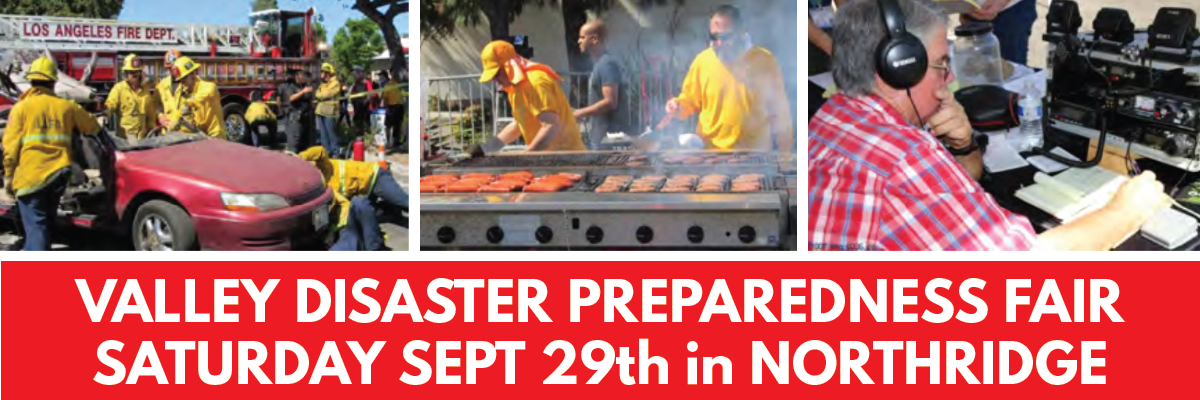 Pics of LAFD, ham radio operators, and BBQ at the Valley Disaster Preparedness Fair