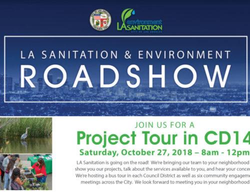 Bureau of Sanitation Roadshow comes to City Council District 14 on Oct 27th