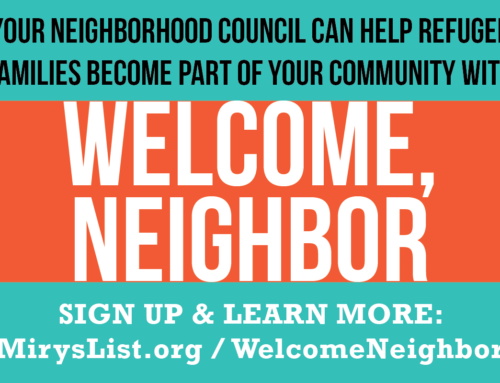 Neighborhood Council refugee welcome program Welcome, Neighbor has launched! Here's how to join