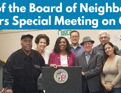 Recap of the Board of Neighborhood Commissioners Special Meeting on October 29th