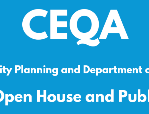 Notice of CEQA Update Informational Open House and Public Hearing