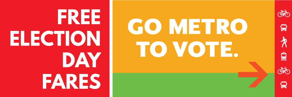 free Election Day Fares November 6th on Metro and six other transit agencies