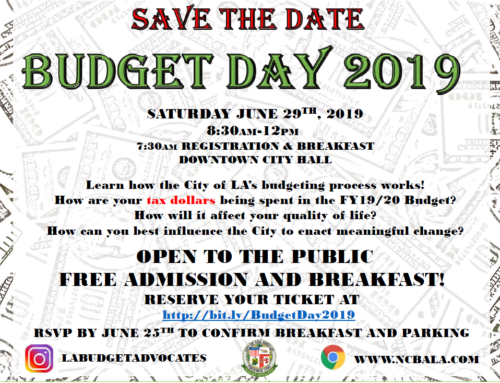 Budget Day 2019 is June 29th: Come Have a Say in How Your Tax Dollars are Spent