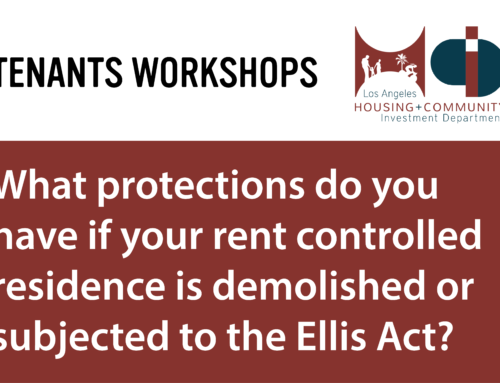 Tenants' Rights Workshops – Ellis Act Evictions (June 2019)