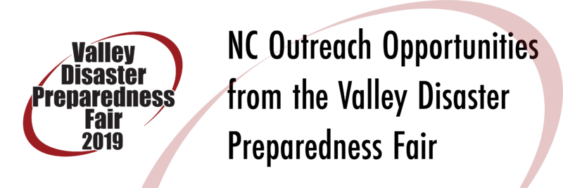 Valley Disaster Preparedness Fair 2019 logo with subject text
