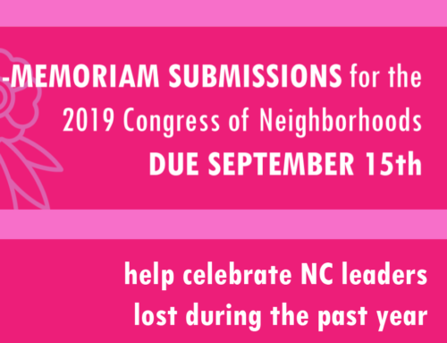 NC Congress In Memoriam Submissions: Share Your Memories of NC Leaders Lost During 2019