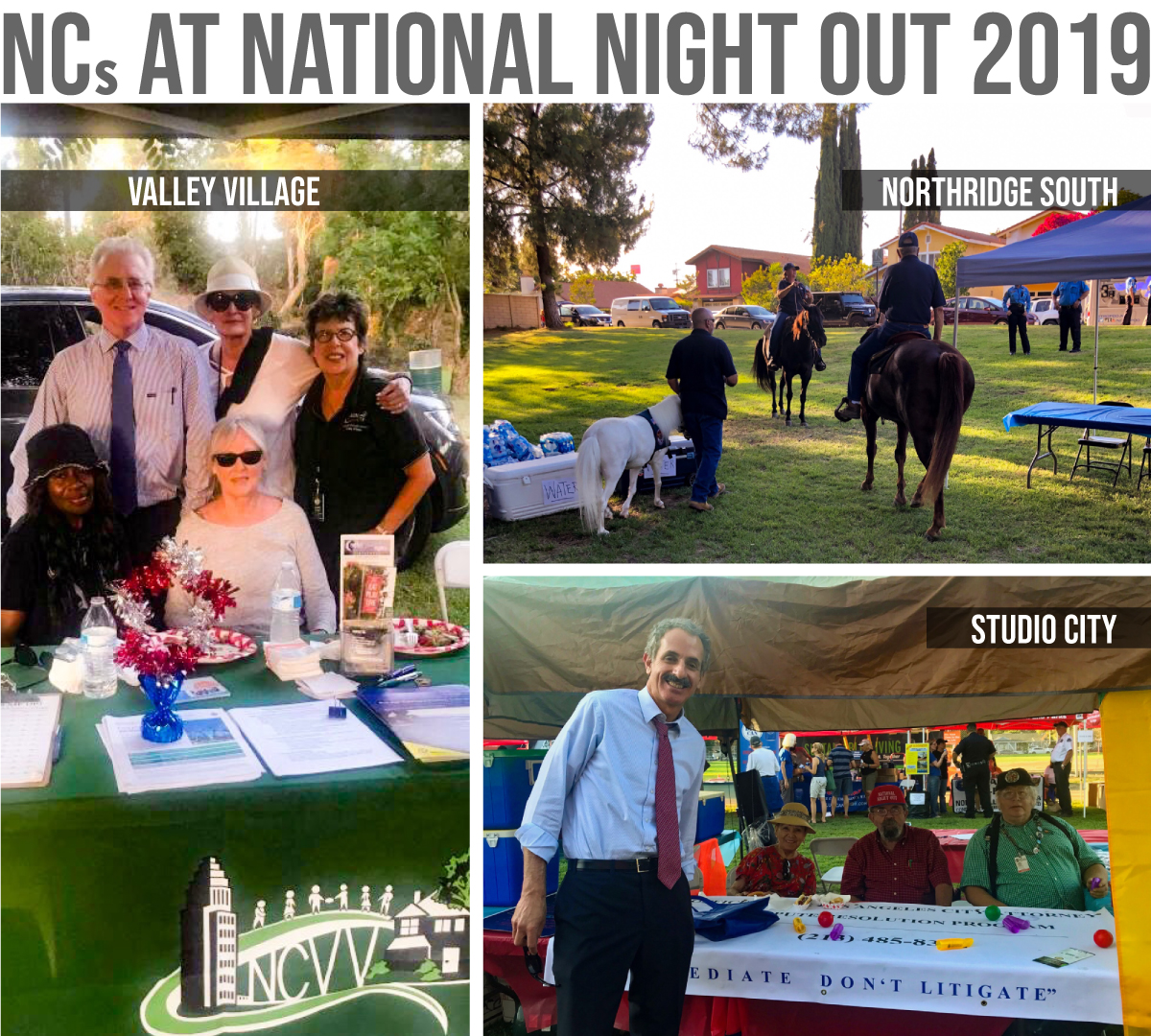 Neighborhood Council National Night Out 2019 photos from Valley Village, Northridge South & Studio City